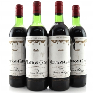 Mouton-Cadet 1979 Bordeaux 4x75cl