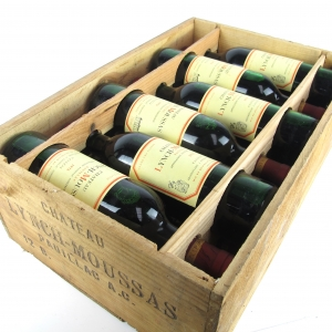 Ch. Lynch-Moussas 1976 Pauillac 5eme-Cru 12x75cl / Original Wooden Case