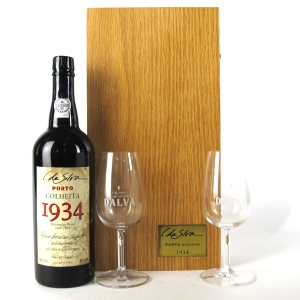 C. DaSilva 1934 Colheita Port / Dalva Giftbox & Glasses