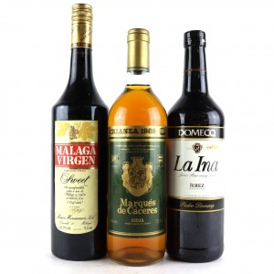 Assorted White & Fortified Spanish Wines 3x75cl