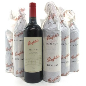 "Penfolds ""Bin 707"" Cabernet Sauvignon 2013 South Australia 6x75cl / Original Wooden Case"