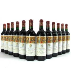 Ch. Mouton-Rothschild 1991 Pauillac 1er-Cru 12x75cl / Original Wooden Case