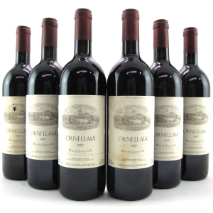 Ornellaia 1989 Tuscany 6x75cl / Original Wooden Case