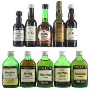 Assorted Domecq and Gonzalez Byass Sherry Miniatures 10x5cl
