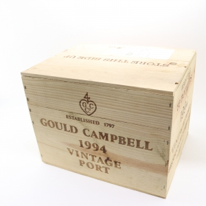 Gould Campbell 1994 Vintage Port 12x75cl / Original Wooden Case