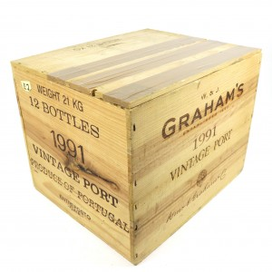 Graham's 1991 Vintage Port 11x75cl / Original Wooden Case