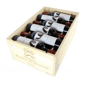 Ch. Mouton-Rothschild 2007 Pauillac 1er-Cru 12x75cl / Original Wooden Case