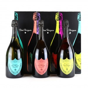 Dom Perignon Brut Vintage 2002 Champagne 3x75cl / Andy Warhol Edition