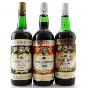 Blandy's Dukes of Clarence, Cumberland & Sussex NV Madeira / 3 Bottles
