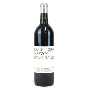 "Ridge ""Mazzoni Home Ranch"" 2014 Sonoma"