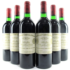 Ch. Cheval Blanc 1982 St-Emilion Grand Cru 6x75cl / Original Wooden Case